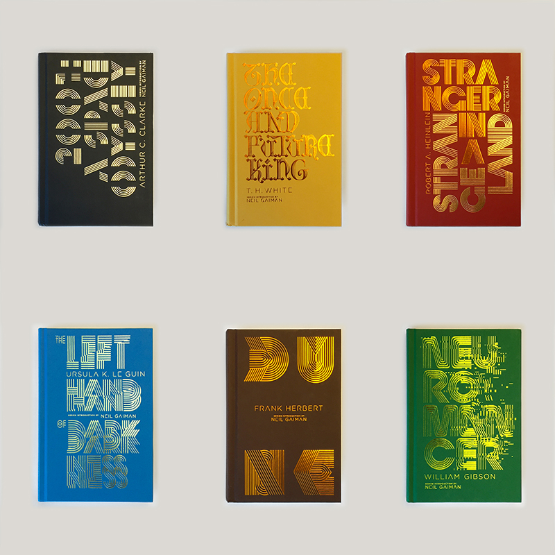 Penguin Galaxy Series (Dune, 2001: A Space Odyssey, Neuromancer, Stranger in a Strange Land, The Left Hand of Darkness, The Once and Future King)