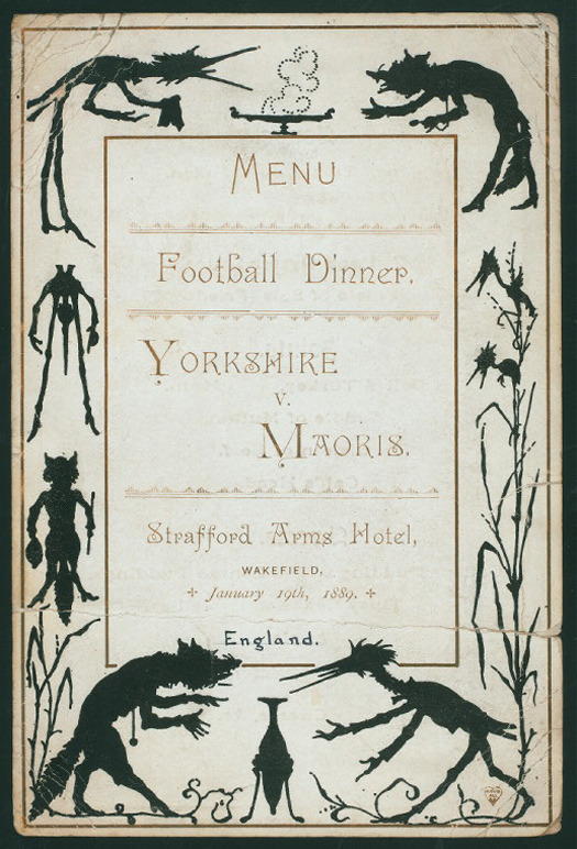 Nineteenth Century Menu Covers