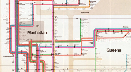 Massimo Vignelli 1972 Nyc Subway Map.Mr Vignelli S Map Design Observer