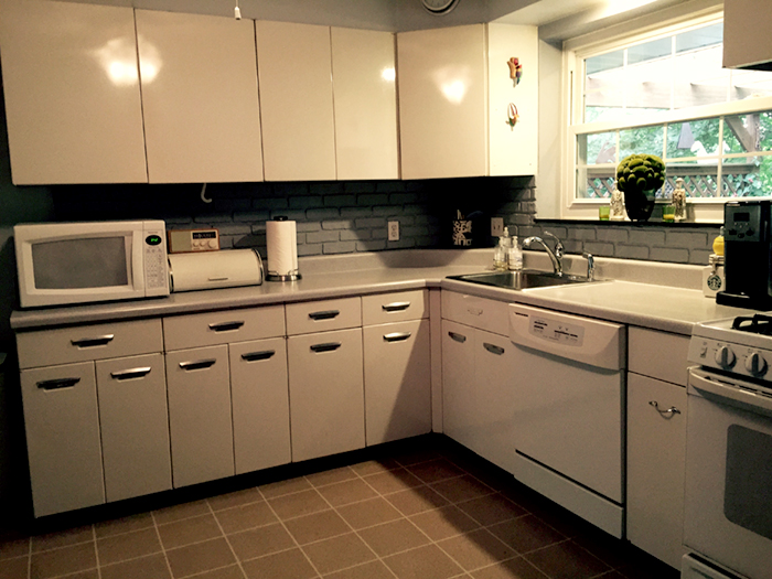 The sixty-year old Republic Steel kitchen cabinets in our St. Louis kitchen