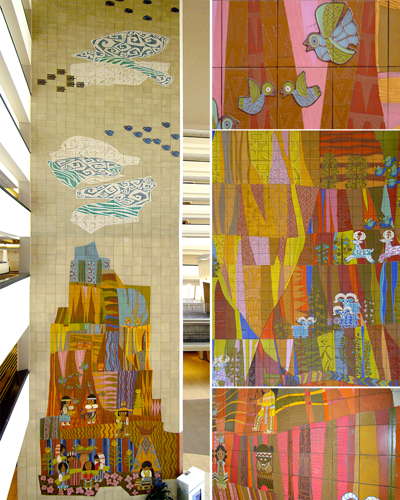 Mary blair the grand canyon concourse mural design observer for Disney world mural