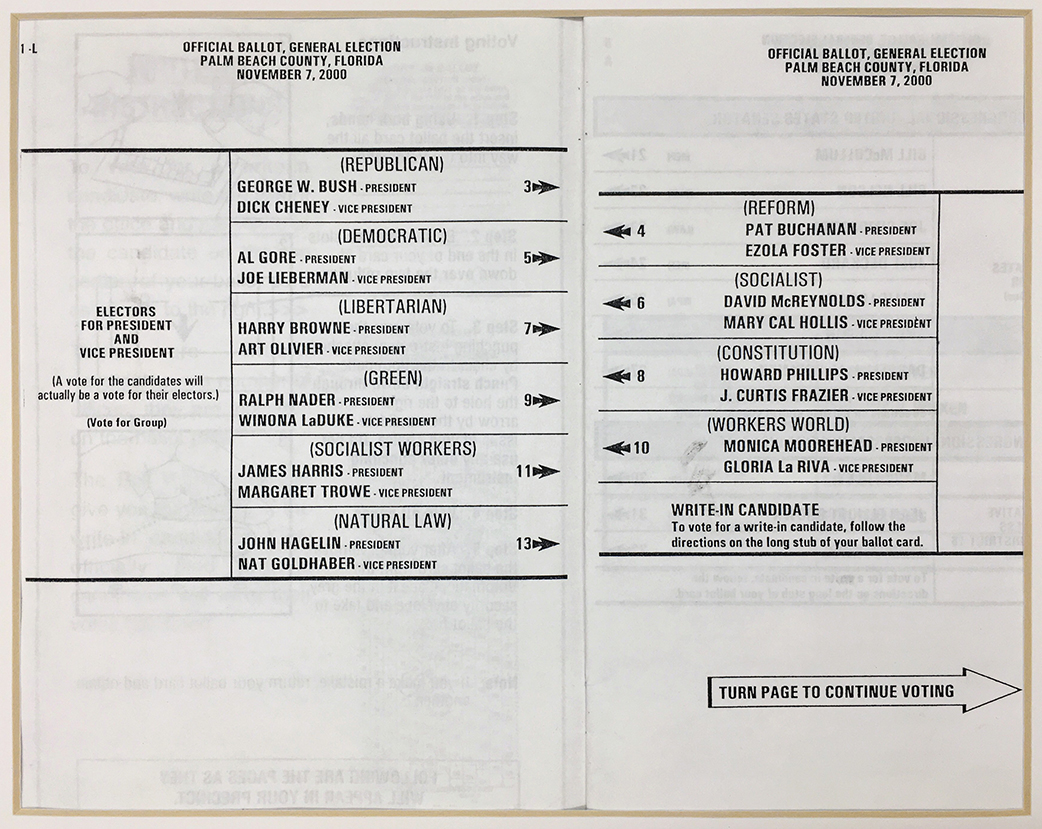 Artifact 2000 Palm Beach County Ballot Design Observer