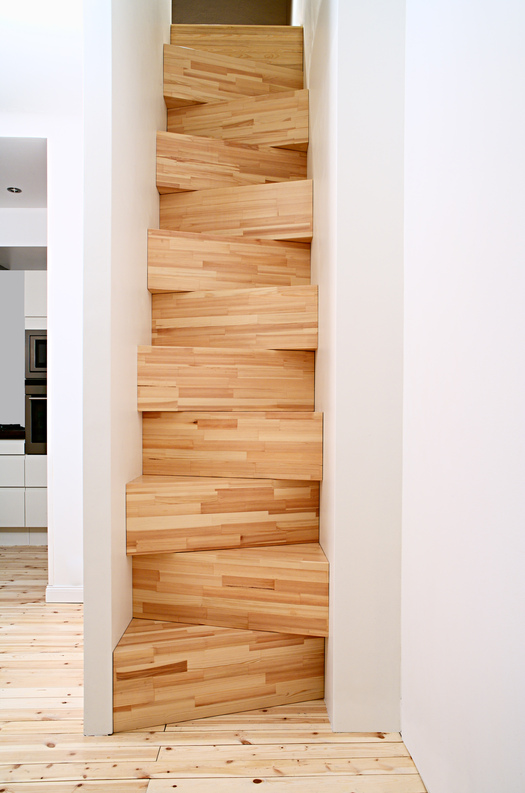 staircase made of stacked boxes design observer