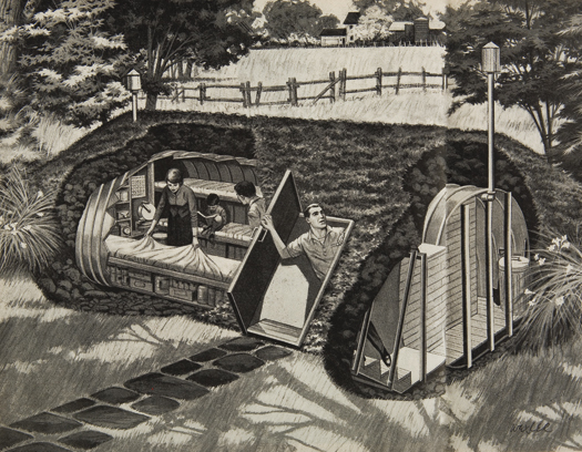 """Backyard Fallout Shelter an excerpt from the book """"better homes & bunkers: the fallout"""