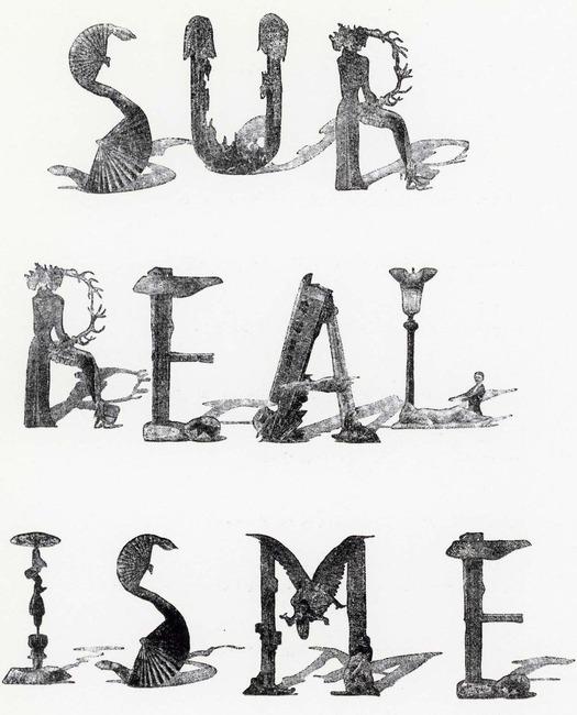 Alphabet By Jindrich Heisler 1952 Arrangement Pierre Faucheux For Les Manifestes Du Surrealisme 1955