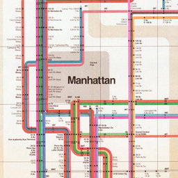 Subway Map To Supreme Store.Mr Vignelli S Map Design Observer